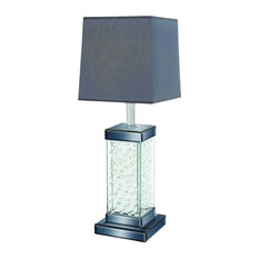 Metal Glass Bubble Accent Table Lamp Grey Decor