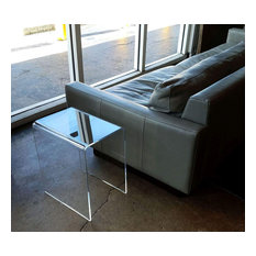 """Clear Acrylic End Table, 16""""x12""""x19"""", 3/8"""" Thick"""