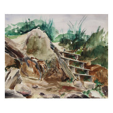 Eve Nethercott, Stairway to the Sea, 85, Watercolor