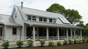 Dove gray metal roofing