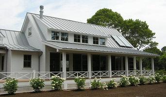 Dove gray metal roofing