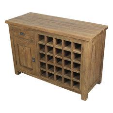 Reclaimed Teak Wine Cabinet