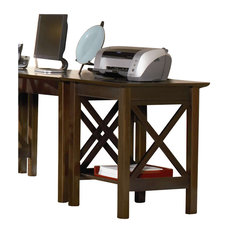 The Atlantic Furniture   Atlantic Furniture Lexington Printer Stand In  Antique Walnut   Office Carts And