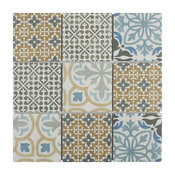 """SomerTile 11.75"""" x 11.75"""" Porto Porcelain Mosaic Floor and Wall Tile, Case of 10"""