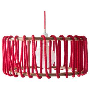 Macaron Pendant Lamp, Red, Large