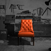 Tufted leather upholstered Dining chair