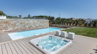 Costuzione piscina interrata più posa minipiscina