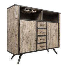 Jofran American Retrospective Bar Cabinet, Gray Wash
