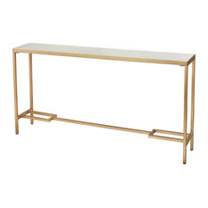 Equus Console Table In Gold/White