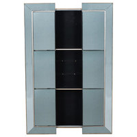 Vintage Glamour Silver Wall Mirror Cabinet