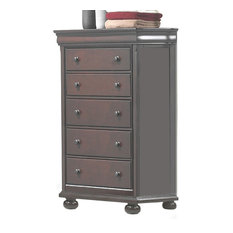 American Woodcrafters Hyde Park Five Drawer Chest, Merlot 1310-CH