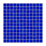 "12""x12"" Transparent Cobalt Blue Ocean Bottle Glass Tile, Full Sheet, Grid"