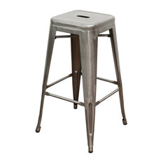 Occ Industrial Stack Counter Height Stool Galvanized Set Of 4