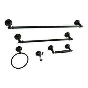 Kingston Brass BAH821330478ORB Concord 5-Piece Bathroom Accessory Set Oil Rubbed Bronze