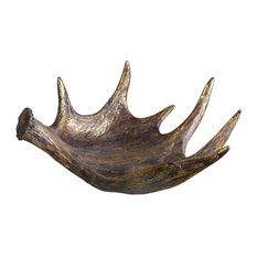 Moose Antler Rustic Bowl, Natural