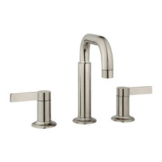 Nature Widespread Faucet Handles and Drain, Brushed Nickel