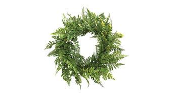 """Meadow Fern Fronds Wreath, 24"""""""