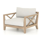 Huxley Outdoor Chair - Stone Grey/Washed Brown
