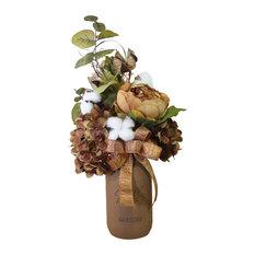 High Cotton Mason Jar Floral Arrangement