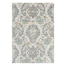 L'Baiet Lula Boho Blue Contemporary 8' x 10' Fabric Area Rug