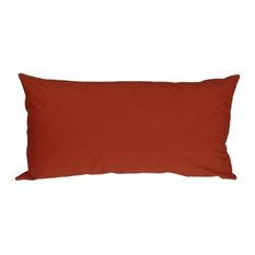 Pillow Decor - Caravan Cotton 9 x 18 Throw Pillows, Rust