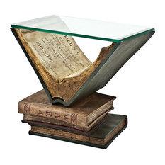 Eichholtz Old Books Glass Side Table