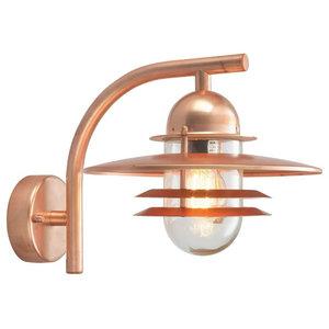Clear Wall Lantern, Copper