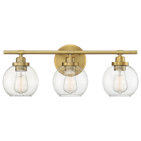 Carson, Warm Brass, 3-Light Bath