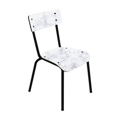 Suzie Dining Chair, White Marble