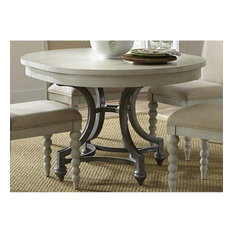 Liberty Furniture Industries, Inc. - Liberty Furniture Harbor View III Round Dining Table, Dove Gray - Dining Tables