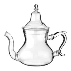 Moroccan Glass Teapot With Integrated Filter, Large, 750 ml