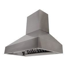Proline PROV Wall Range Hood w/Chimney & Heat Lamps, 60