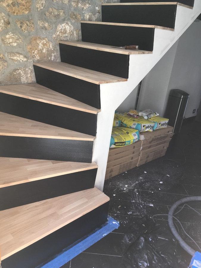 Rénovation d'escalier en carrelage - WBDesign
