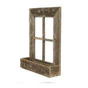 BarnwoodUSA Rustic Window Planter Frame, 100% Reclaimed Wood, Weathered Gray