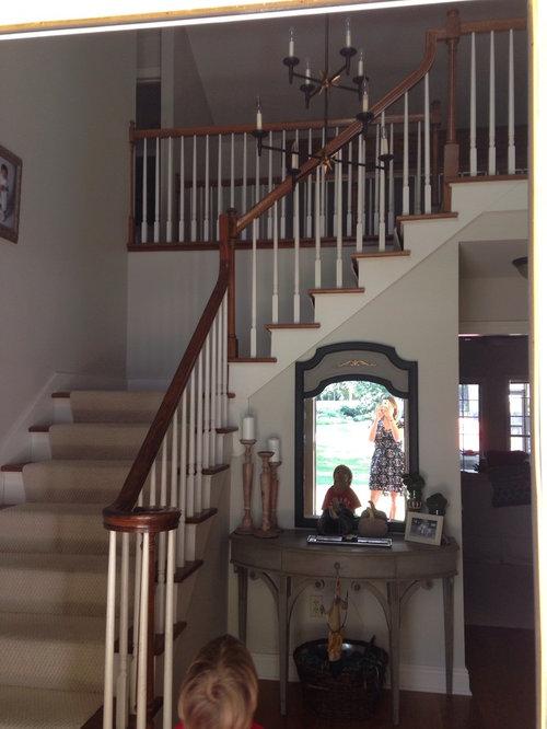 The Oak Banister Dates My Foyer Should I Paint It Black