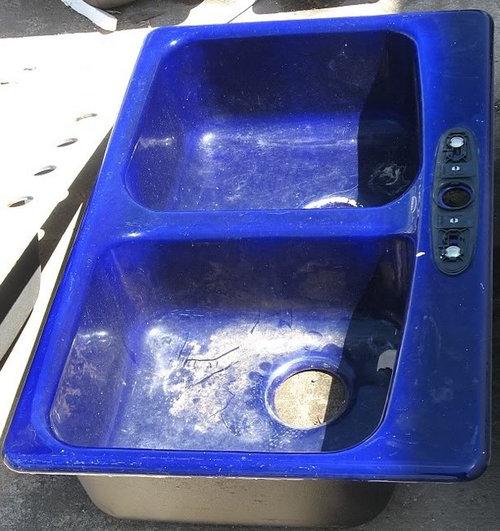 Cobalt blue Kohler sink, used--would you do it?