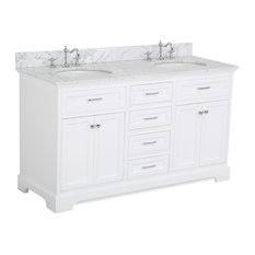 Vanity Double Sink Top. Kitchen Bath Collection  Aria 60 Double Vanity With Carrara Marble Top White Sink Bathroom Vanities Up to 70 Off Free Shipping on
