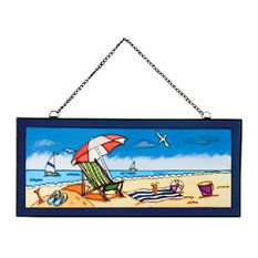 Beach Scene Stained Glass