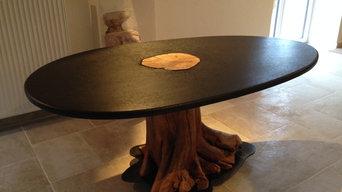 Table bois/granit