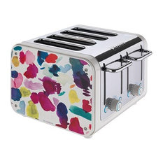 Dualit Architect 4 Slots Body With Bluebellgrey Panel Toaster, Canvas