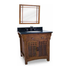 Lyn Design Wescot Wright 28 X 35 1/4 Chestnut Vanity Top/Bowl