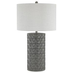Grey Glaze Table Lamp