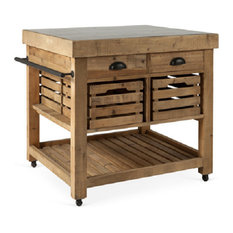 rustic kitchen islands and carts | houzz