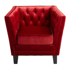 Cyan Design Prince Valiant Red Contemporary Chair