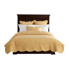 Sage Garden Luxury Pure Cotton Quilt, Gold, Queen