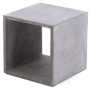 Hermitage Concrete Cube Side Table