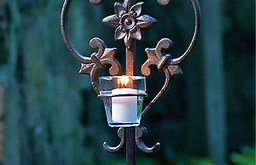 Shannon Garden Stake With Votive Holder