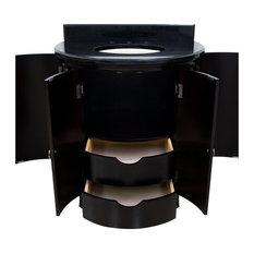 Hardware Resources Lyn Design Demi lune Espresso Vanity, VAN056-T