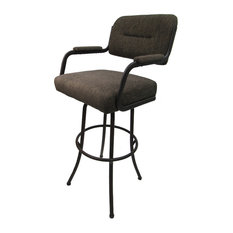 Extra Tall Swivel Bar Stool   Sanora Brown Brown Metal Frame 35-inch