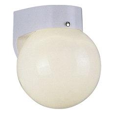 1-Light White Exterior Flush Mount